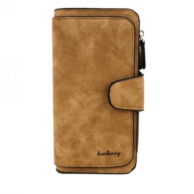 Женский замшевый кошелёк Baellerry Forever, коричневый