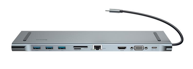 Хаб Baseus Enjoyment Series Type-C Notebook HUB Adapter (CATSX-F0G)