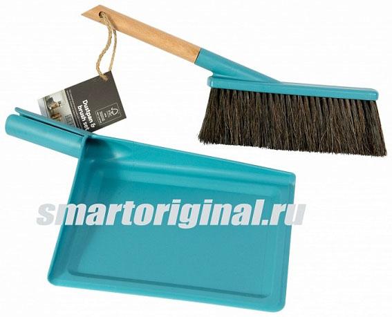 Smart Microfiber Щётка + совок бирюза серия Natur