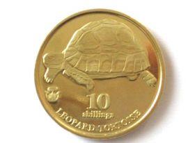 Леопардовая черепаха 10 шиллингов Биафра 2018