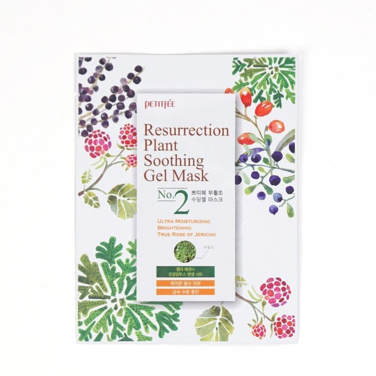 [PETITFEE] Маска д/лица тканевая ИЕРИХОНСКАЯ РОЗА Resurrection Plant Soothing Gel Mask, 30 гр