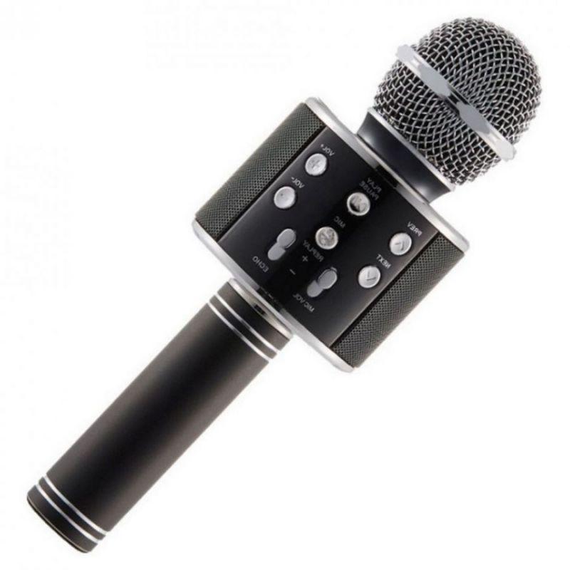 Караоке Микрофон WS-858, Цвет Черный