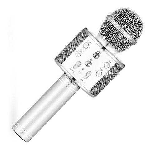 Караоке Микрофон WS-858, Цвет Серебристый