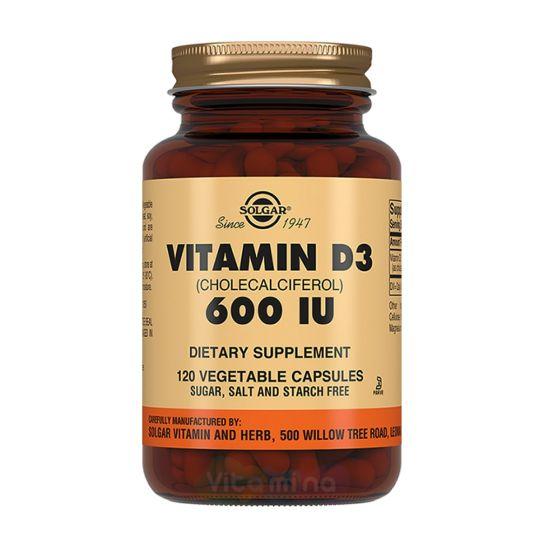 СОЛГАР Витамин D3 600 МЕ (120 капсул)