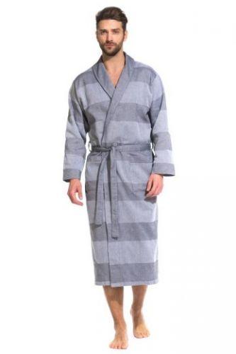 Легкий мужской халат Pur Organique (PM France 417) серый