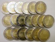"Набор 2 евро "" 30 лет флагу Европы"" 2015 год (19 монет)"