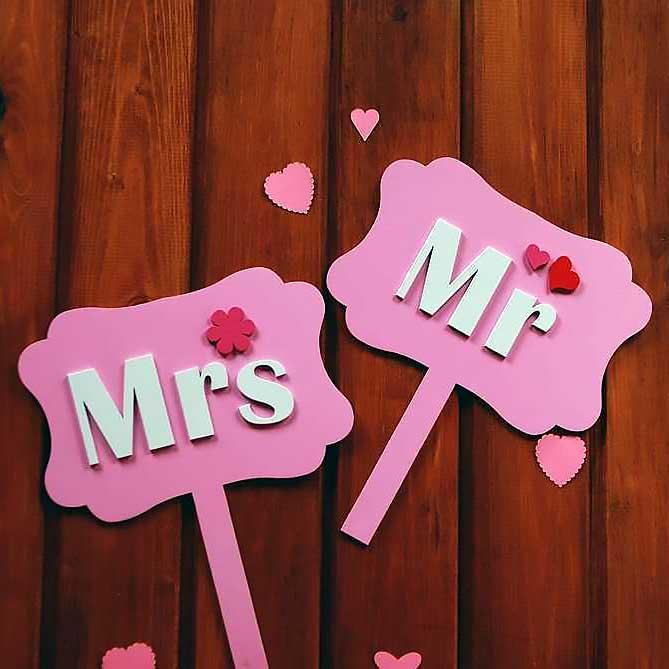 Набор табличек для свадебной фотосессии