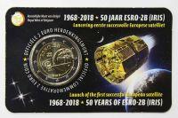 Бельгия 2 евро 2018, 50-летие запуска первого европейского спутника ESRO 2B (буклет)