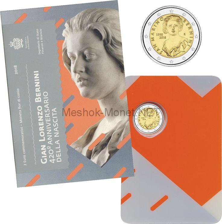 Сан-Марино 2 евро 2018, Лоренцо Бернини (буклет)
