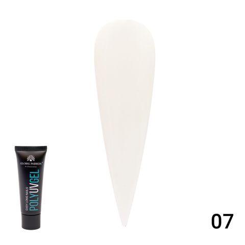 Полигель (PolyGel) молочный, Global Fashion 30 мл Milk 07
