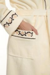 Женский махровый халат Caramele (PM 709) кремовый (фото 6)