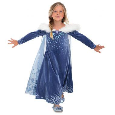 Костюм платье Эльзы Де Люкс - Олаф и холодное приключение - Disney Store 5/6 лет