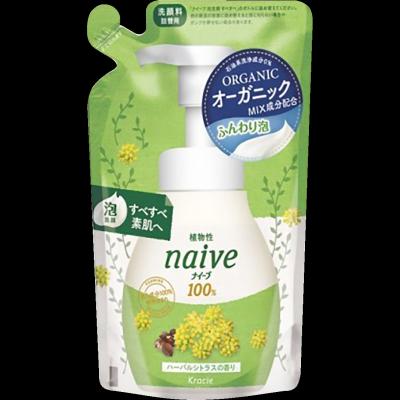 Kracie Naive Пенка для умывания цветы и травы 180 мл в сменной упаковке