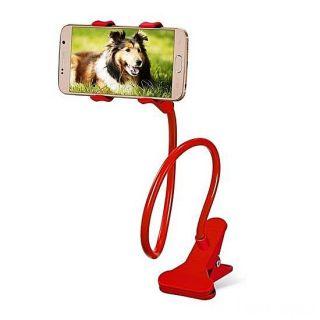Гибкий держатель-прищепка для телефонов и мини планшетов, Красный