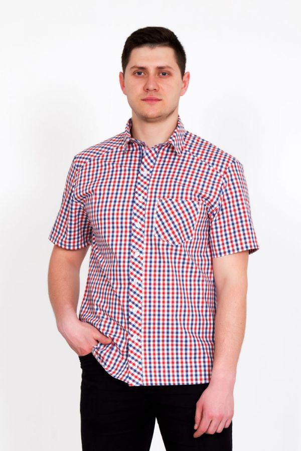 """Мужская рубашка """"Оливер"""" красная"""