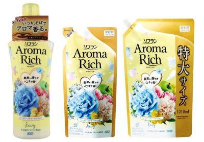 LION Aroma Rich Кондиционер для белья Fairy с ароматом ландыша и фруктов
