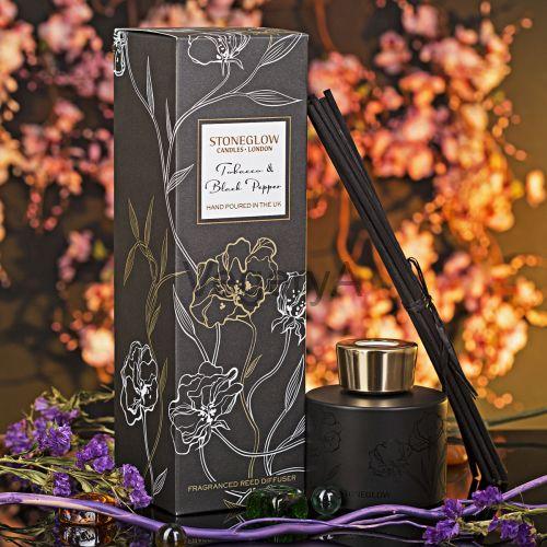Диффузор Чёрная замша и кардамон StoneGlow Ночные цветы