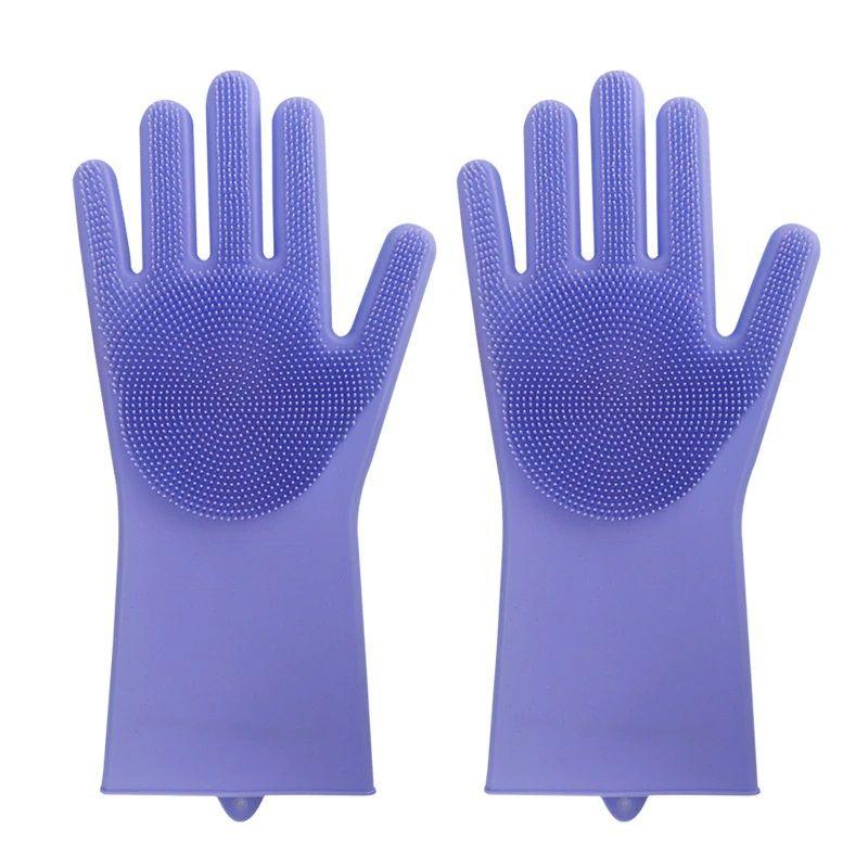 Многофункциональные Силиконовые Перчатки Magic Brush, Цвет Синий