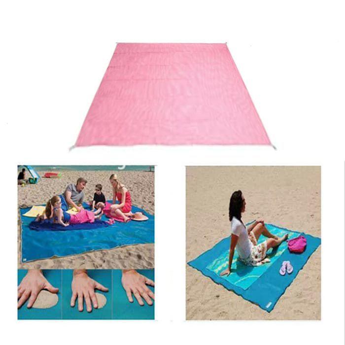 Пляжный коврик Антипесок 200х150См (цвет розовый)