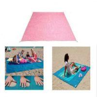 Пляжный коврик Антипесок 200х150см цвет розовый (1)
