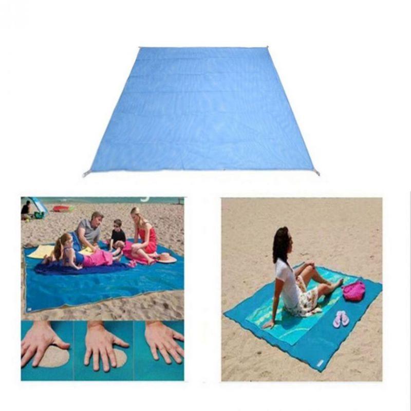 Пляжный Коврик Антипесок 200х150см (цвет голубой)