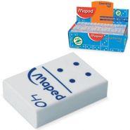 """Ластик из синтетич. каучука """"Domino 40"""", белый, картонный дисплей (арт. 511240)"""