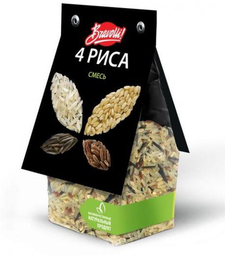 Bravolli Смесь 4 риса, 350 г