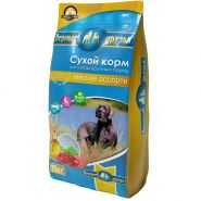 Верные друзья Мясное ассорти Сухой корм для собак крупных пород 15 кг