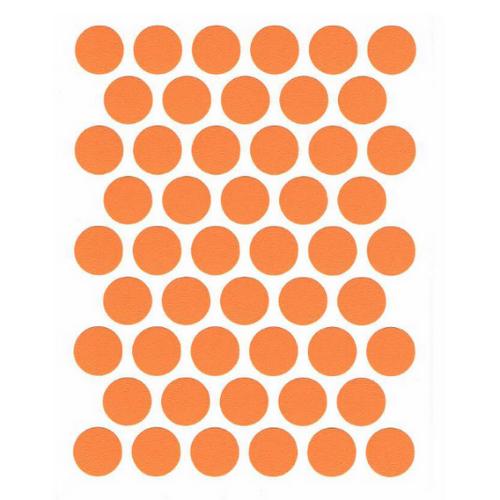 Заглушка самоклеющаяся оранжевый (50шт) №26