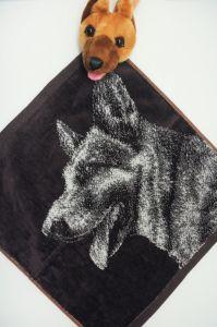 Полотенце детское хлопковое с рисунком (36*36) арт.  203525