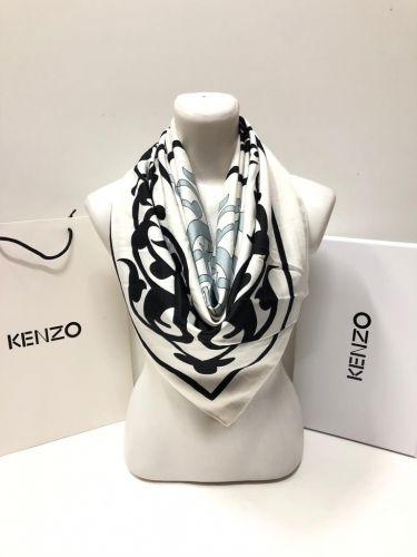 """Платки реплики """"Kenzo"""" с ярким рисунком из 100% хлопка 100х100 см LV067"""
