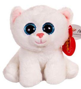 Котенок белый с голубыми глазками (15 см)