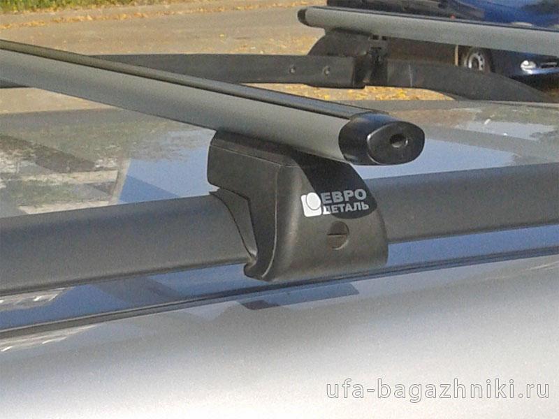 Багажник на крышу - аэродинамические дуги на рейлинги Peugeot Partner 2008-..., Евродеталь