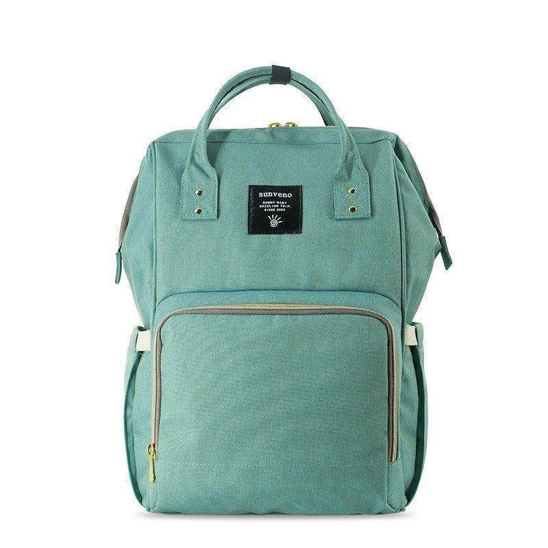 Сумка-рюкзак для мамы Baby Mo (MUMMY BAG), цвет мятный
