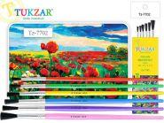 """Набор кистей """"Tukzar"""", 6 шт: нейлон № 1, 2, 3, 4, 5, 6 (арт. TZ 7702)"""