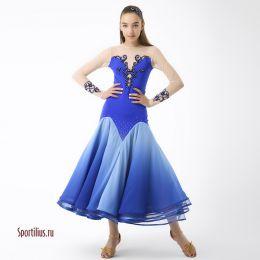 "Платье для танцев стандарт ""Афина-Blue"""