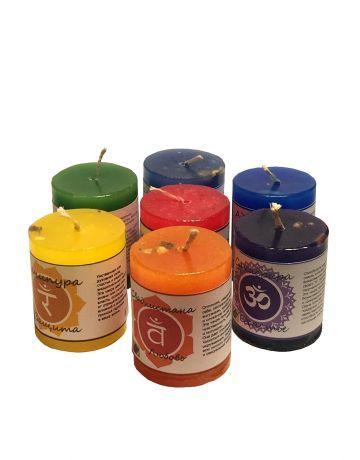 Чакровая свеча Вишудха/Позитивная Энергия (голубая)