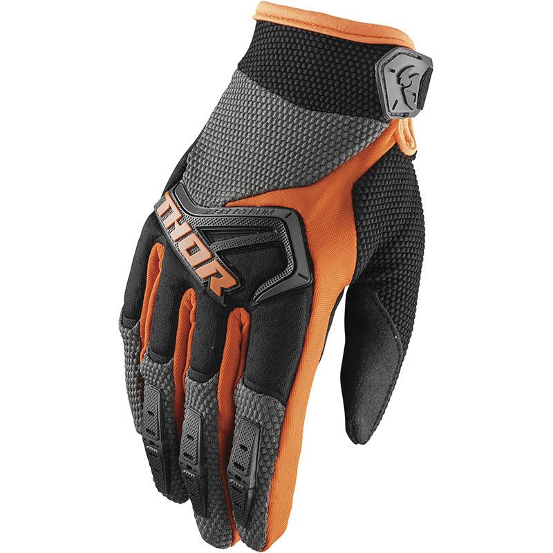 Thor - Spectrum Charcoal/Orange перчатки, серо-оранжевые