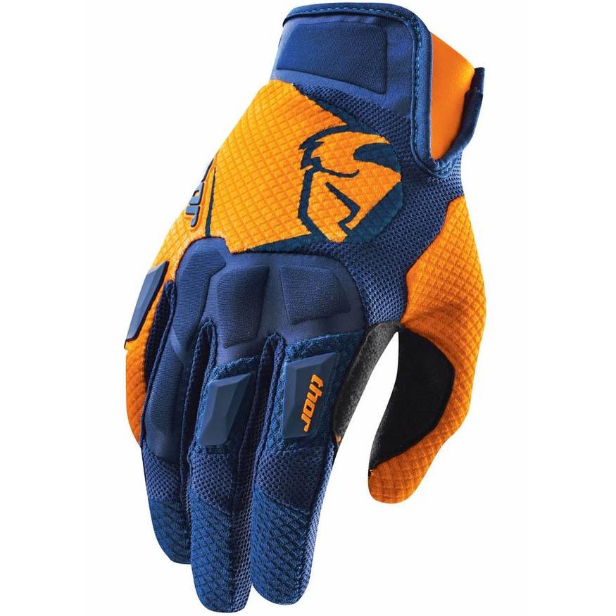 Thor - Flow Navy/Orange перчатки, сине-оранжевые
