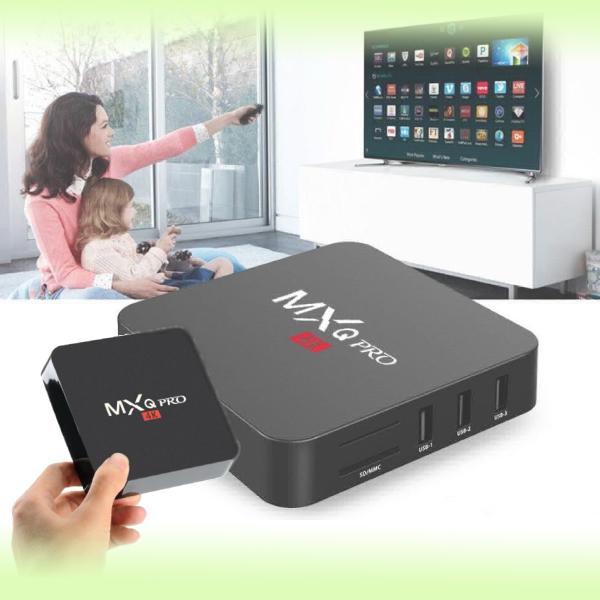 Универсальная смарт ТВ приставка (медиаплеер) Smart TV Box MXQ PRO 4K