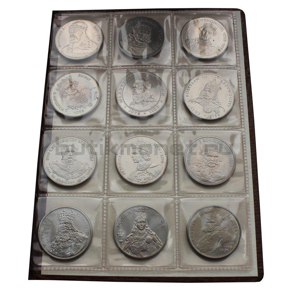 Набор монет 1979-1989 Польша Польские правители (12 штук)