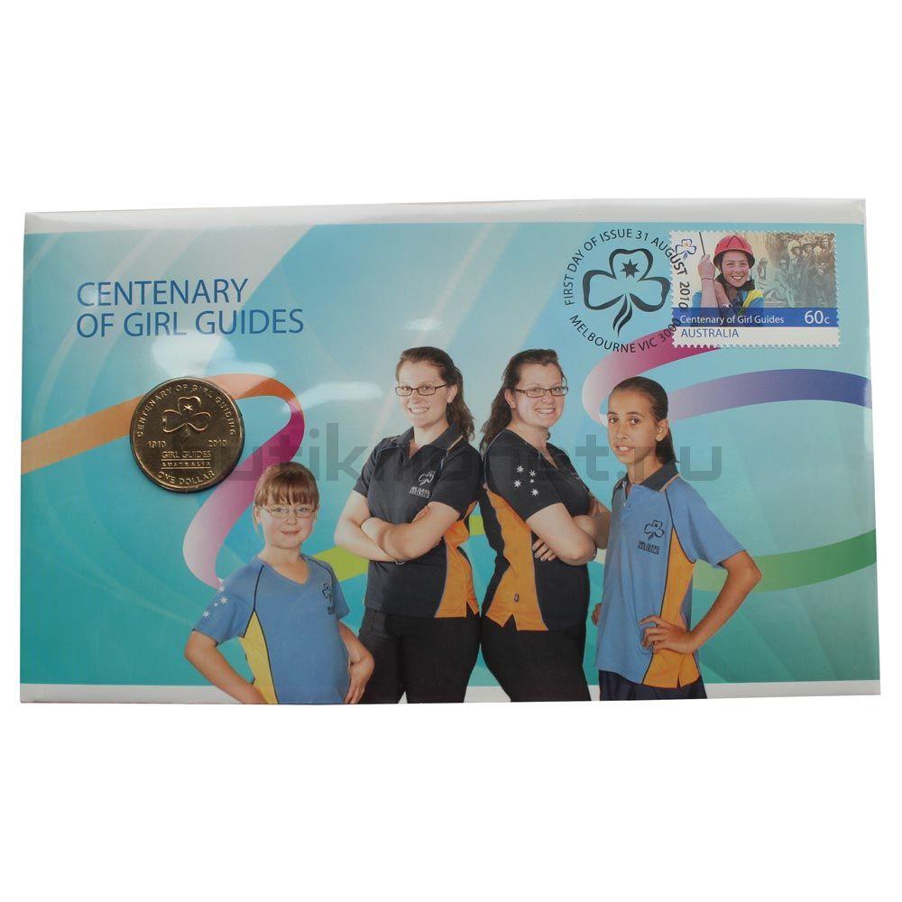 1 доллар 2010 Австралия 100 лет женской организации скаутов (В буклете)