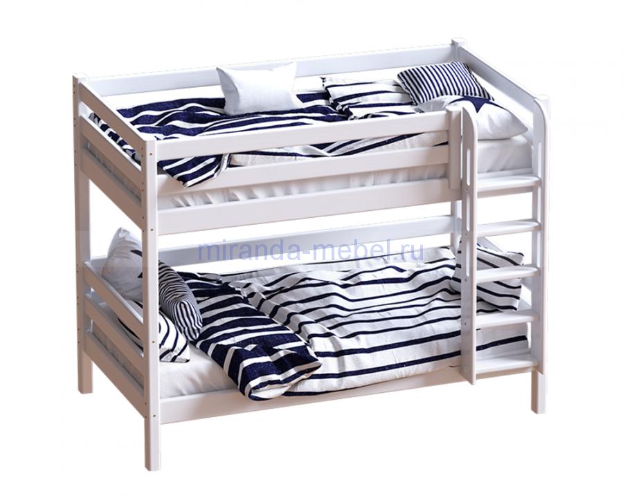 """Кровать """"Авалон""""  прямой лестницей"""