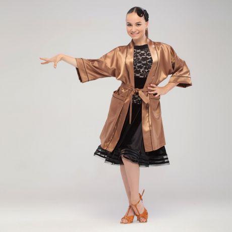 атласный халат для танцев