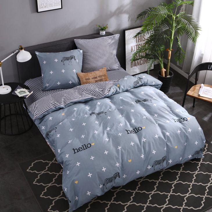 Комплект постельного белья Сатин 100% хлопок C307 1.5 спальный