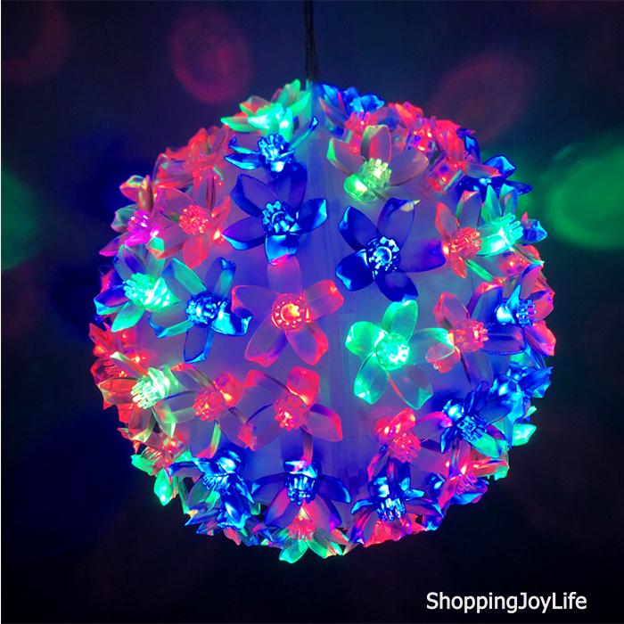 Эксклюзивный Светодиодный LED Шар С Лампами В Виде Цветов Led Light, 100 Ламп