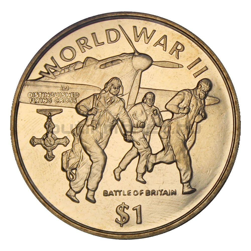 1 доллар 1997 Либерия Битва за Британию (Вторая мировая война)