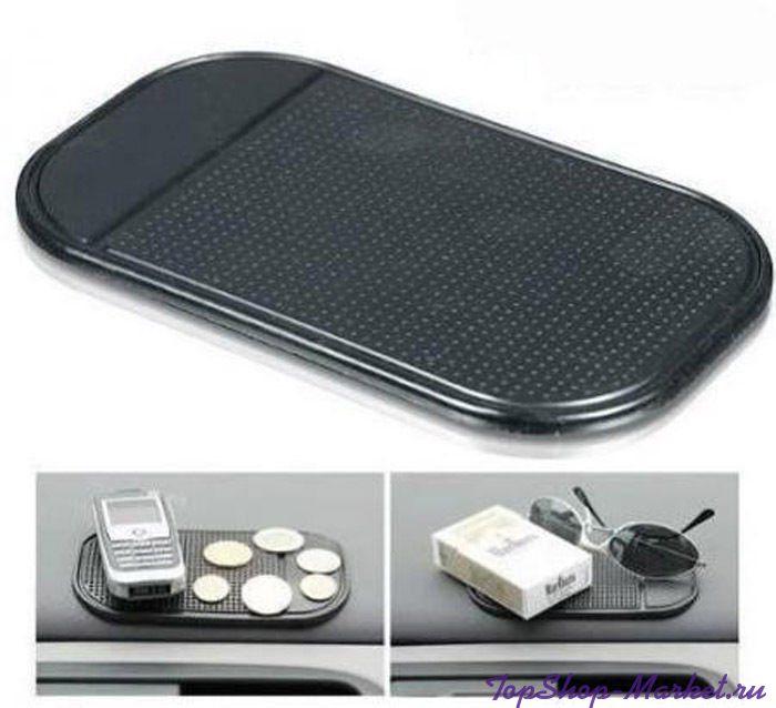 Коврик для телефона и мелких предметов STICK MAT, Цвет: Черный