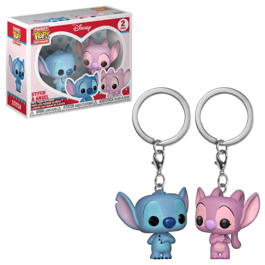 Брелок Funko POP! Keychain: Disney: Lilo & Stitch: 2PK Stitch & Angel 36370-PDQ