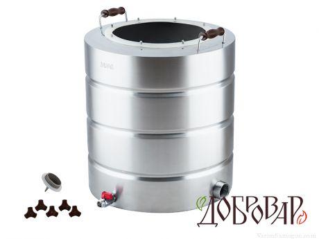 "Перегонный куб ""Добровар"" 51 л. 8 шпилек, ТЭН-Р-версия (1¼"") (без крышки)"